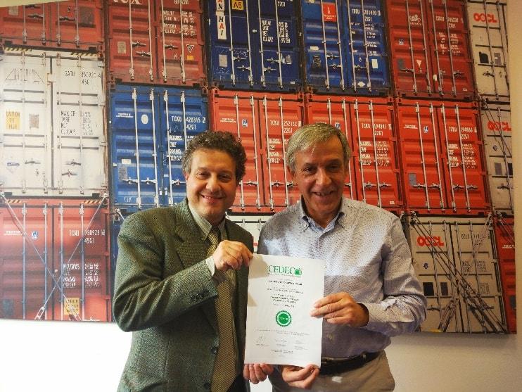 BOXLINE UNITED CARGO LINK Srl riceve il Certificato secondo la Norma CEDEC di Qualità Imprenditoriale