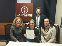 PANETTERIA GASPARINI Srl riceve il Certificato secondo la Norma CEDEC© di Qualità Imprenditoriale